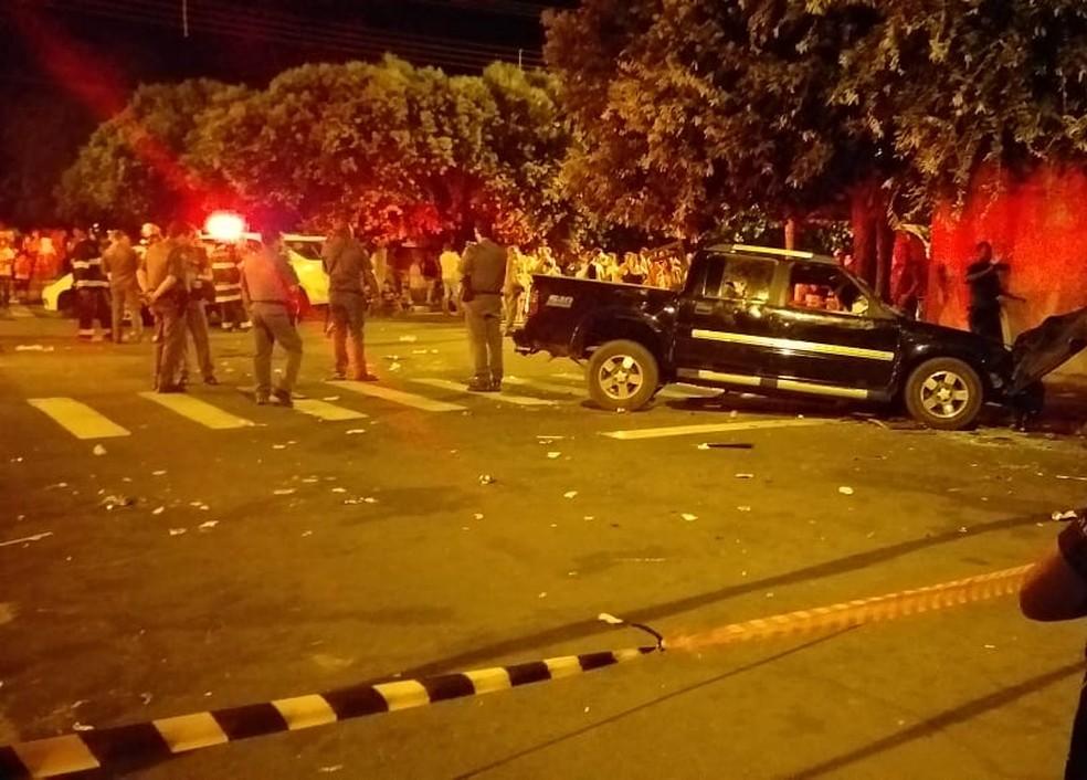 Motorista atropela 17 pessoas em bar em Nova Independência; duas morreram — Foto: Arquivo Pessoal