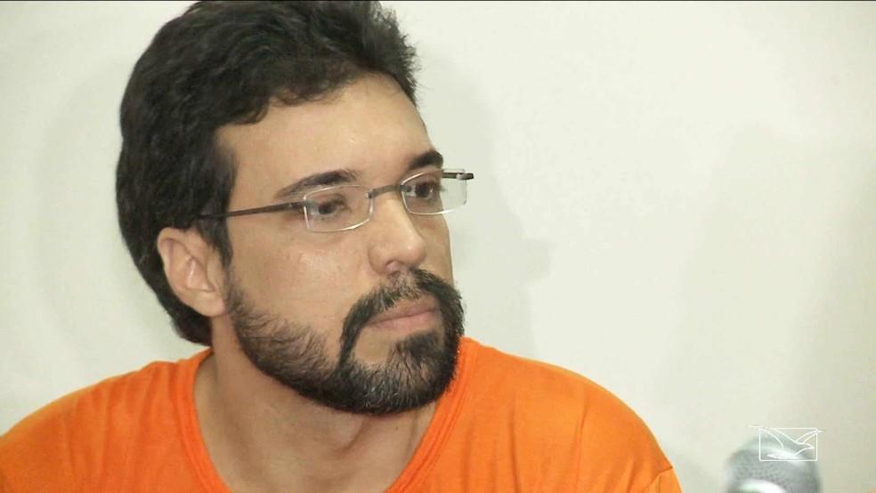 -  Lucas Porto está preso em cela especial na Penitenciária de Pedrinhas desde novembro de 2016  Foto: Reprodução/ TV Mirante