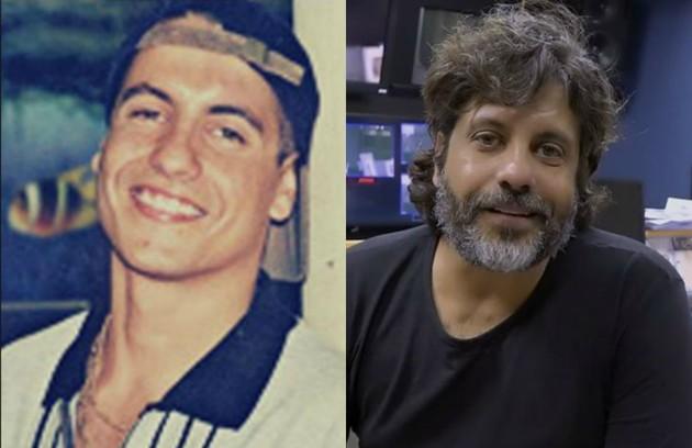 Pedro Vasconcelos em 1997, como o Vudu de 'Malhação', e atualmente. Ele se tornou diretor de TV e o seu trabalho mais recente foi a novela 'Espelho da vida' (Foto: TV Globo)