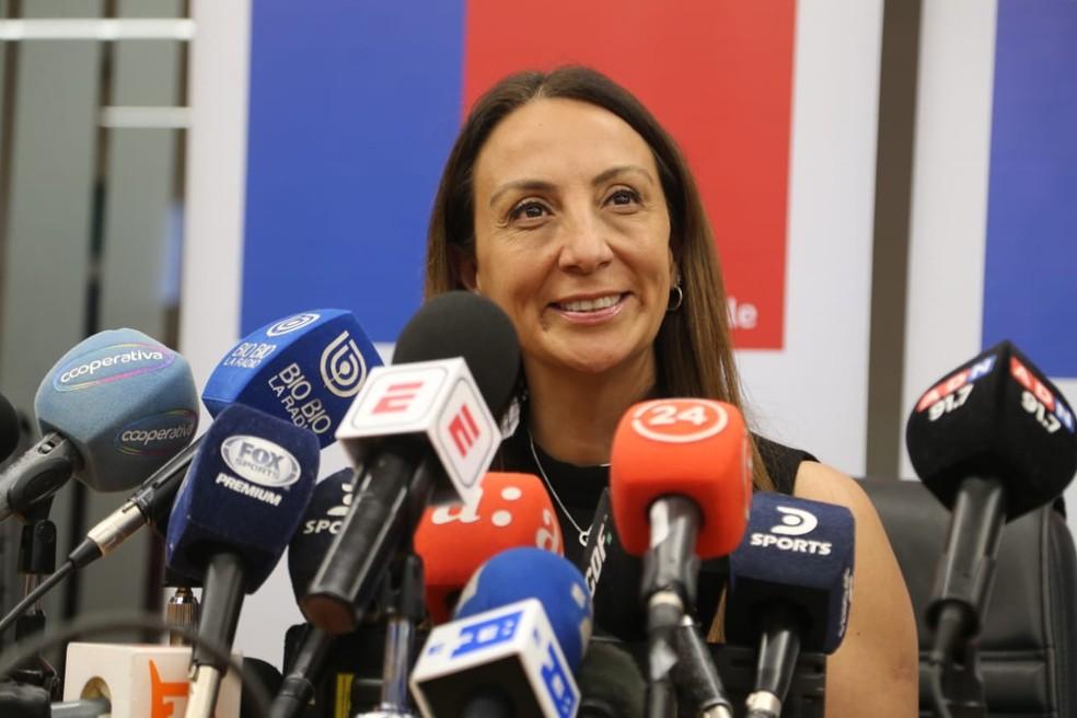 Cecilia Pérez confirmou condições para a final da Libertadores em Santiago — Foto: Divulgação/Assessoria do governo chileno