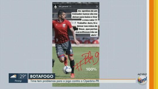 Bruno Moraes usa redes sociais para manifestar desconforto no Botafogo-SP