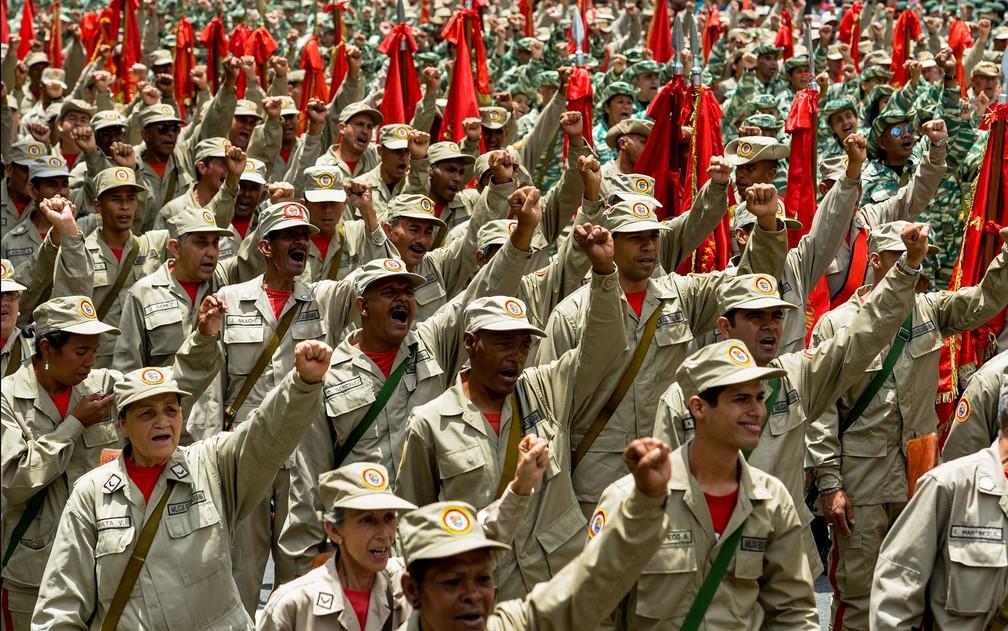 Resultado de imagem para milícia bolivariana da Venezuela