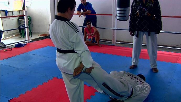 Bruno Guimarães, Taekwondo, Goiás (Foto: Reprodução/TV Anhanguera)