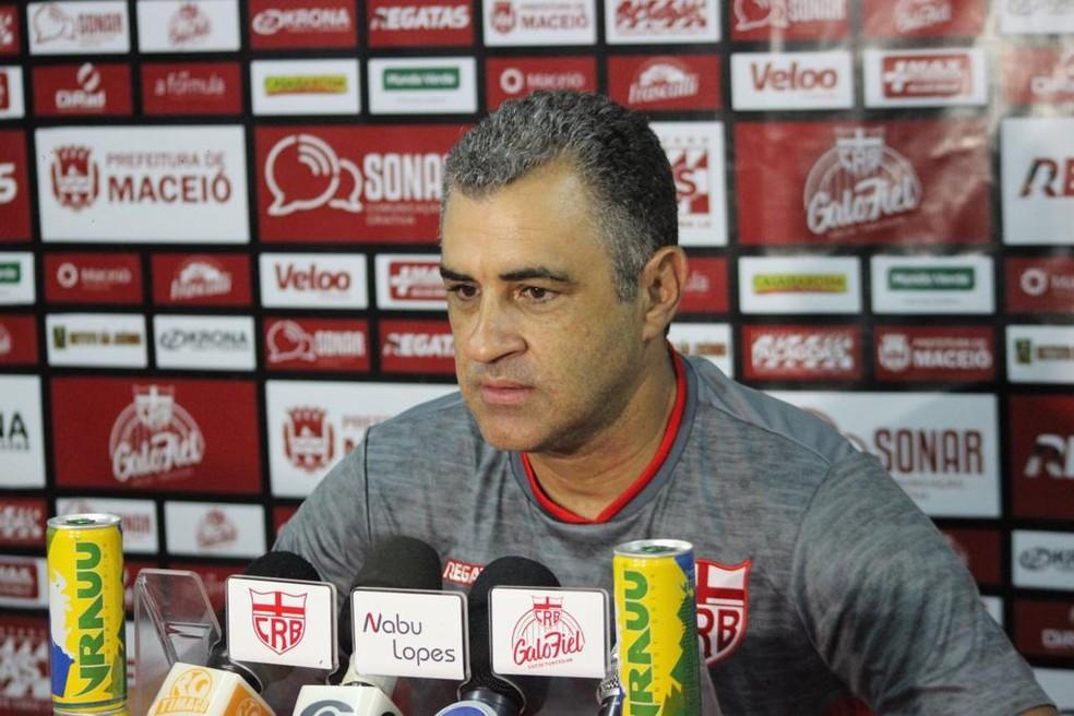 Marcelo Chamusca, técnico do CRB — Foto: Gustavo Henrique/Ascom CRB