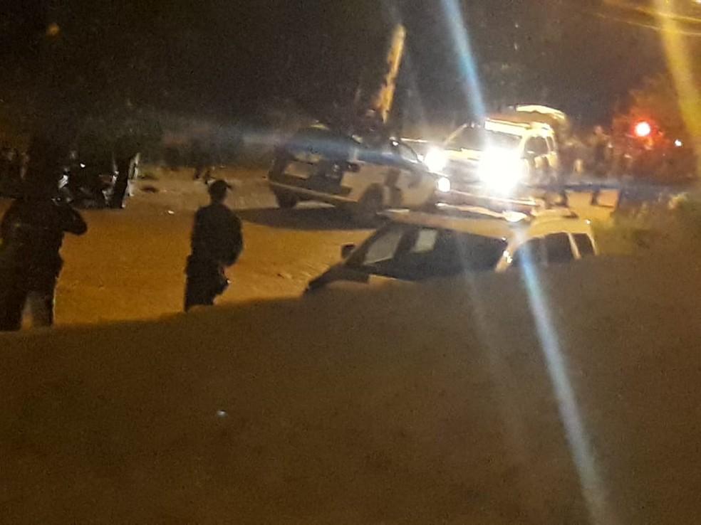 Policial mata jovem durante perseguição policial, no ES — Foto: VC no ESTV