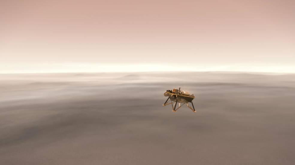 Ilustração da InSight (Foto: NASA)