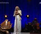 Maria Bethania durante a live no Globoplay | Reprodução