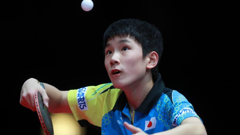 Ainda aos 13 anos, Tomokazu Harimoto se tornou o mais jovem campeão mundial júnior em 2016 (Foto: Rémy Gros/Divulgação/ITTF)