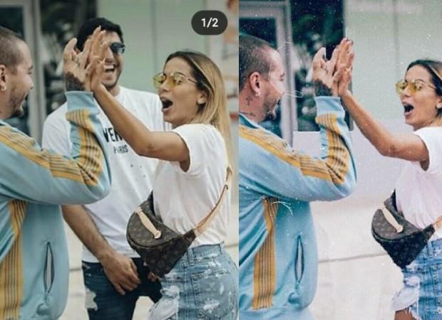 Anitta apaga ex-marido de fotos com J Balvin (Foto: Reprodução/Instagram)