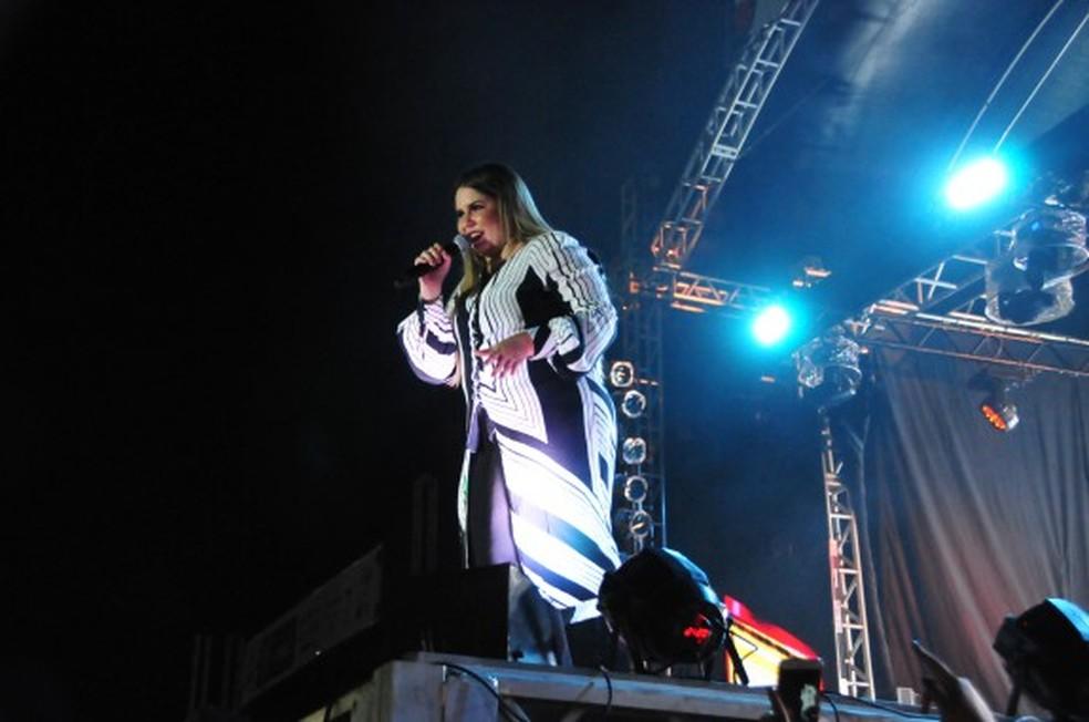 Marília Mendonça fez show em Praia Grande (Foto: Divulgação/Prefeitura de Praia Grande)