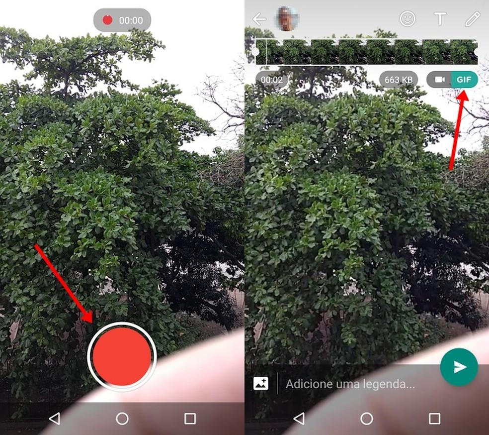Transforme seus vídeos em GIFs com o Whatsapp (Foto: Reprodução/Bruno Soares)