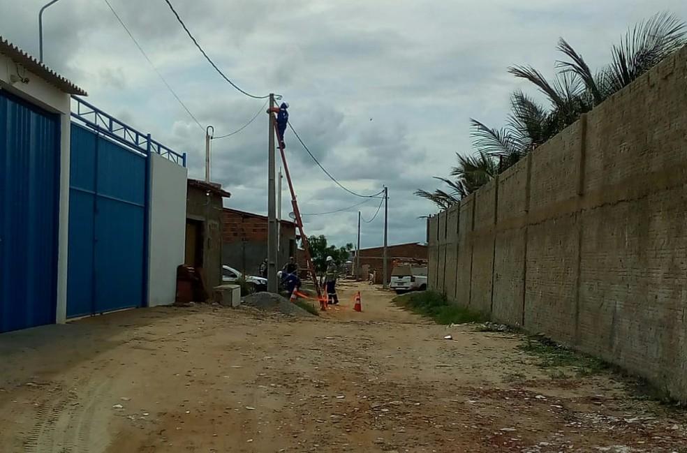 Gatos de energia foram desativados pela Cosern em Areia Branca — Foto: Cosern/Divulgação