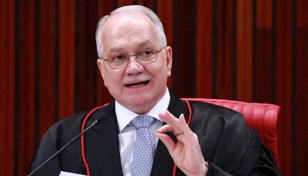 O ministro Edson Fachin durante sessão do SupremoTribunal Federal — Foto: Fátima Meira/Futura Press/ Estadão Conteúdo