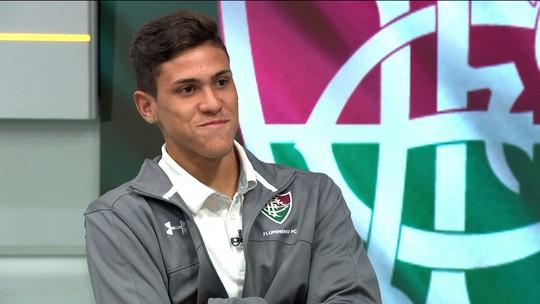 """Pedro brinca com gol de boca: """"Faz gol de tudo quanto é jeito"""""""