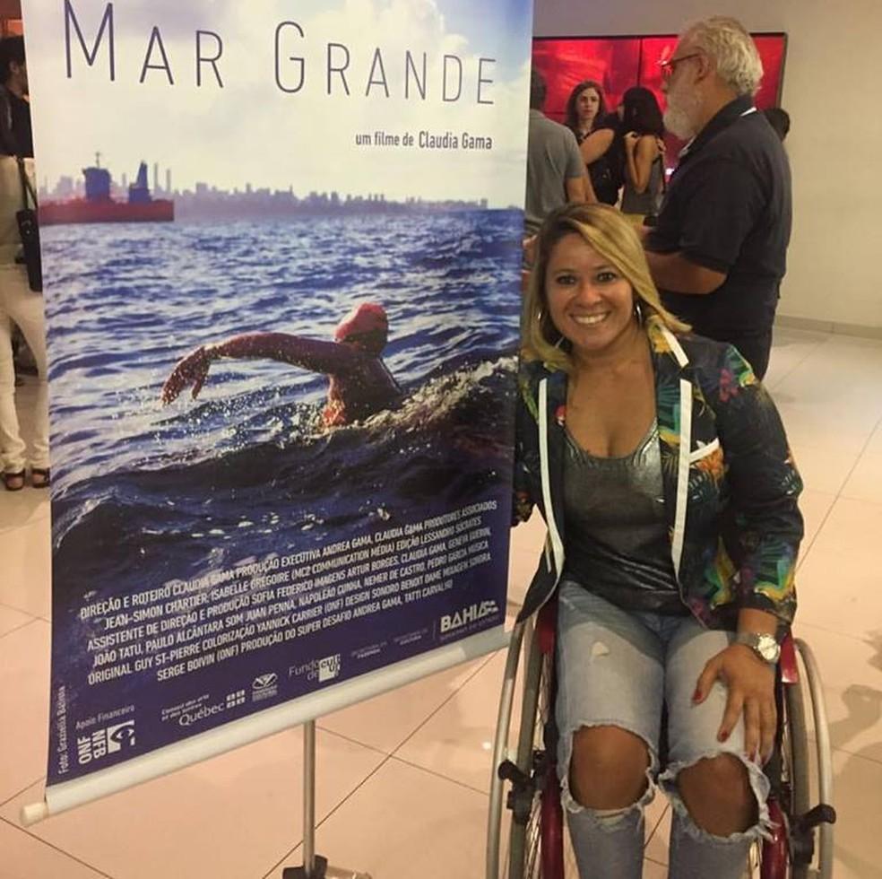 Nadadora está na fase final de seu tratamento — Foto: Reprodução / Facebook