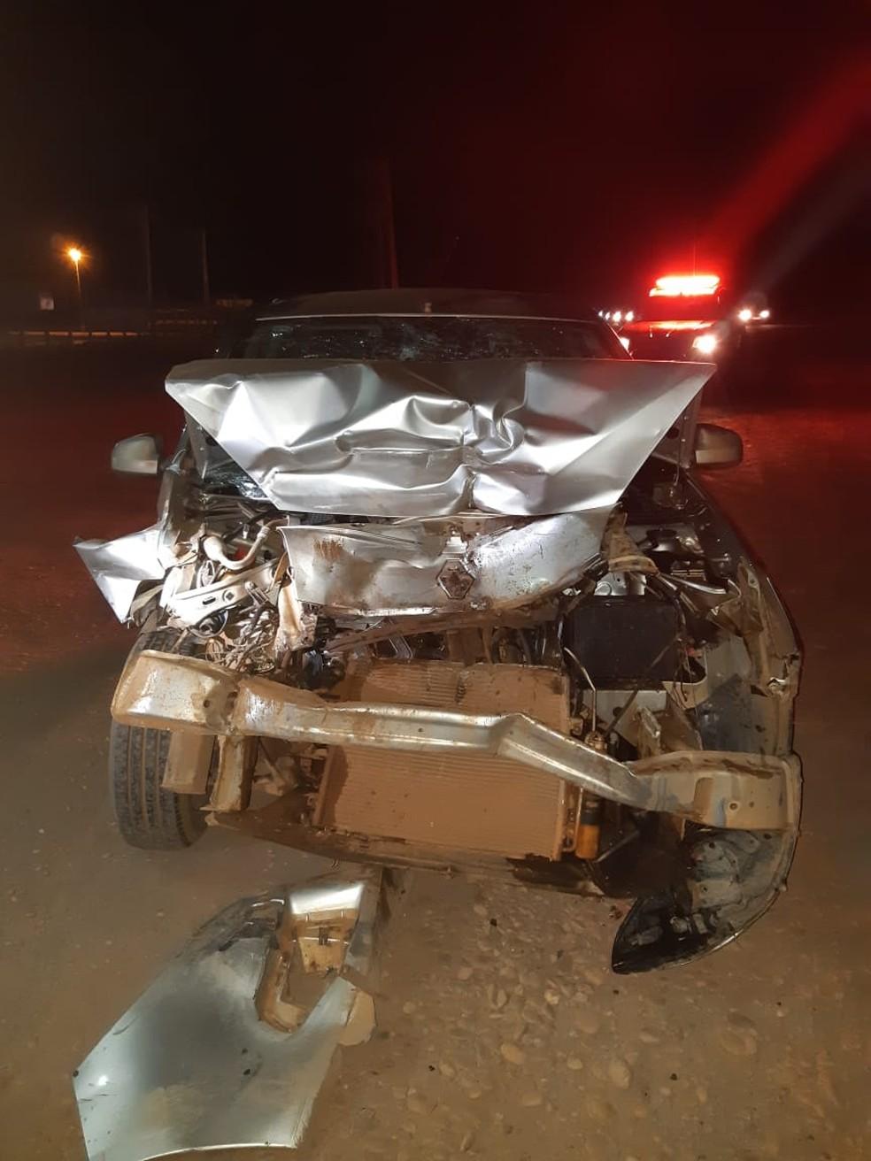 Polícia Rodoviária disse que os veículos envolvidos no acidente teriam saído de chácaras localizadas no povoado Bananal em Imperatriz — Foto: Divulgação/Polícia Rodoviária Federal
