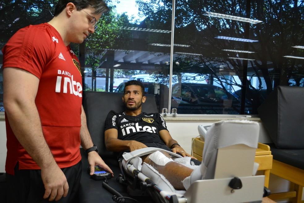Joao Rojas não entra em campo pelo São Paulo desde 2018 — Foto: Érico Leonan / saopaulofc.net