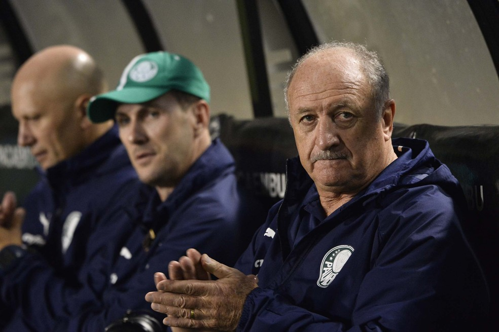 Felipão tem respaldo do elenco do Palmeiras; invencibilidade é de 28 jogos no Brasileirão — Foto: Marcos Ribolli