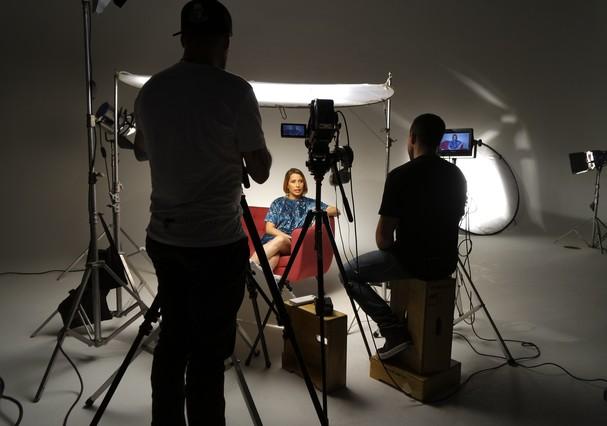 Bastidores do vídeo (Foto: Divulgação)