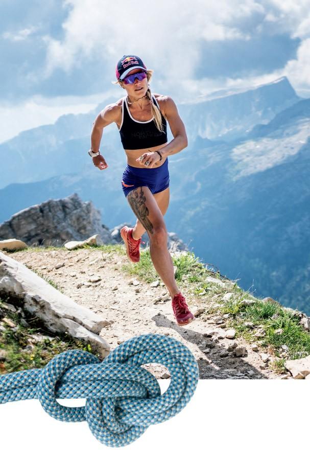 Fernanda é a primeira mulher do mundo a subir e descer correndo o Aconcágua (6,962 m) em menos de 24 horas. Uau! (Foto: Arquivo Pessoal e Jordi Saragossa)