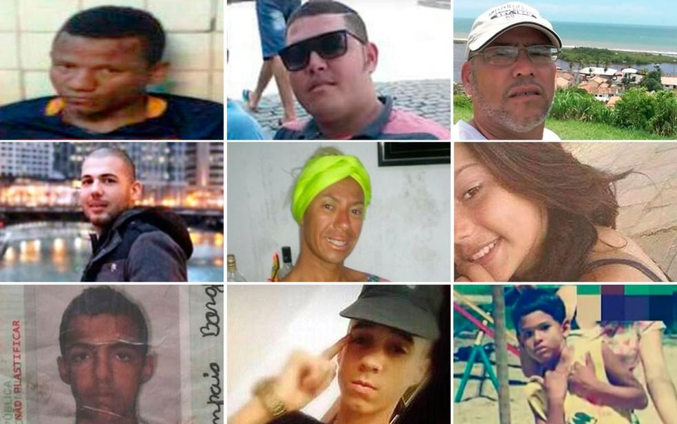 Vítimas da Bahia (Foto: Montagem/G1)