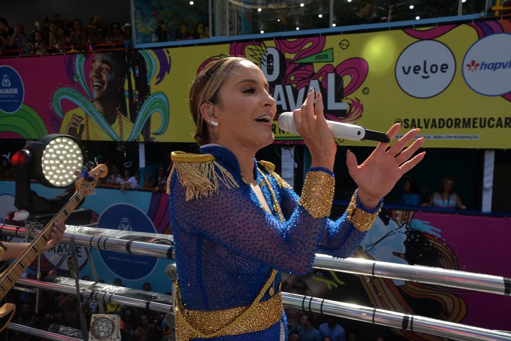 Claudia Leitte no carnaval de Salvador — Foto: Sérgio Pedreira/Ag. Haack