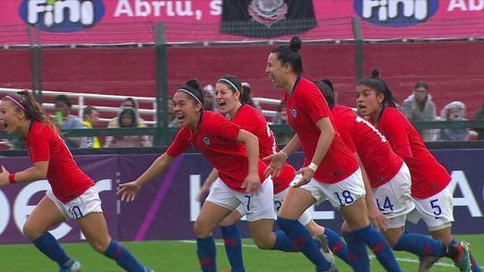 Os pênaltis de Brasil 0 (4x5) 0 Chile pelo Torneio Internacional Feminino de Futebol