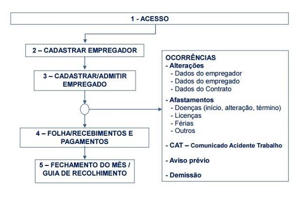 Fluxograma explica como funcionará a emissão da guia de recohimento (Foto: Reprodução)