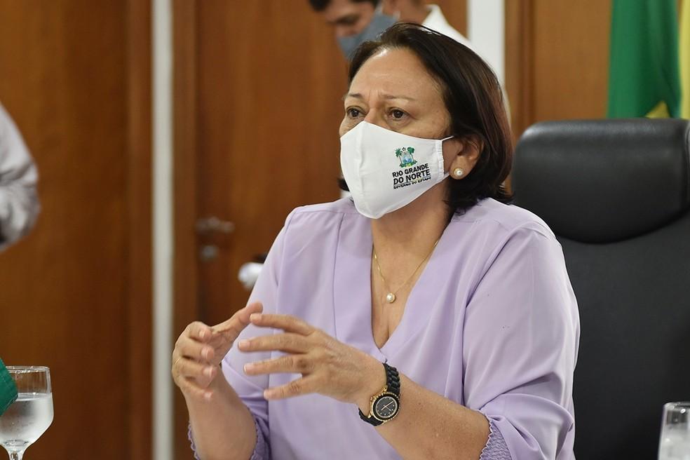 Governadora do Rio Grande do Norte, Fátima Bezerra (PT) — Foto: Elisa Elsie/Assecom/Governo do RN