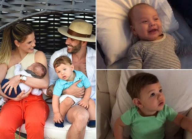 Andressa Suita, Gusttavo Lima e os filhos, Gabriel e Samuel (Foto: Reprodução / Instagram)
