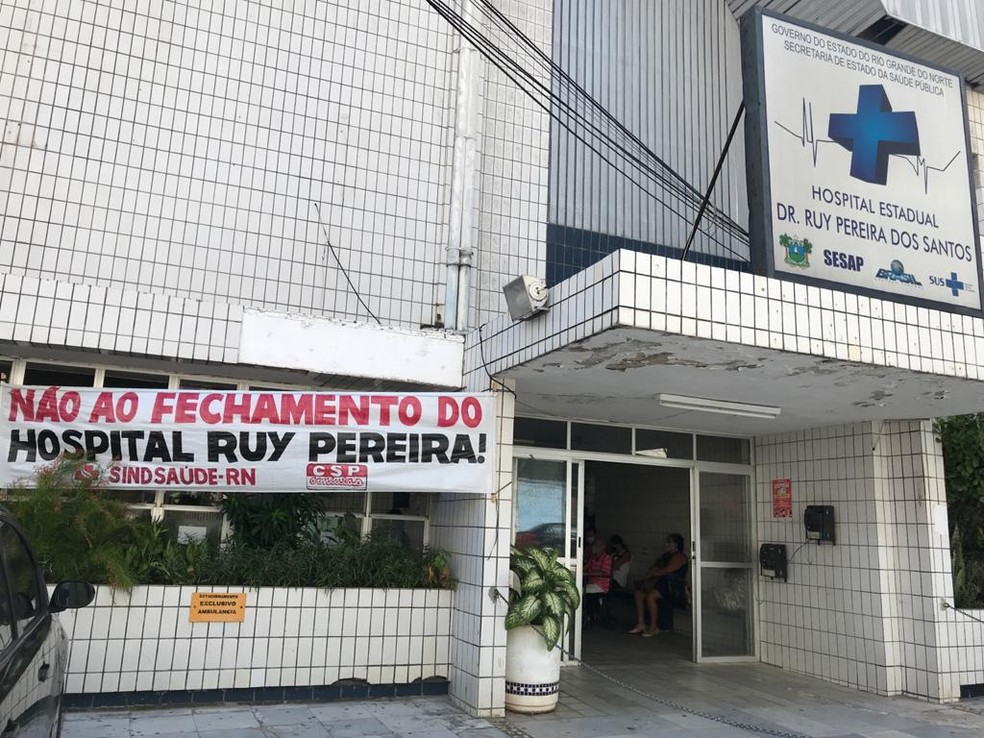 Sindicato dos Médicos do RN entrou na Justiça para evitar transferências de leitos do Hospital Ruy Pereira — Foto: Quézia Oliveira/Inter TV Cabugi