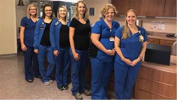 6 enfermeiras grávidas no mesmo hospital (Foto: Divulgação)