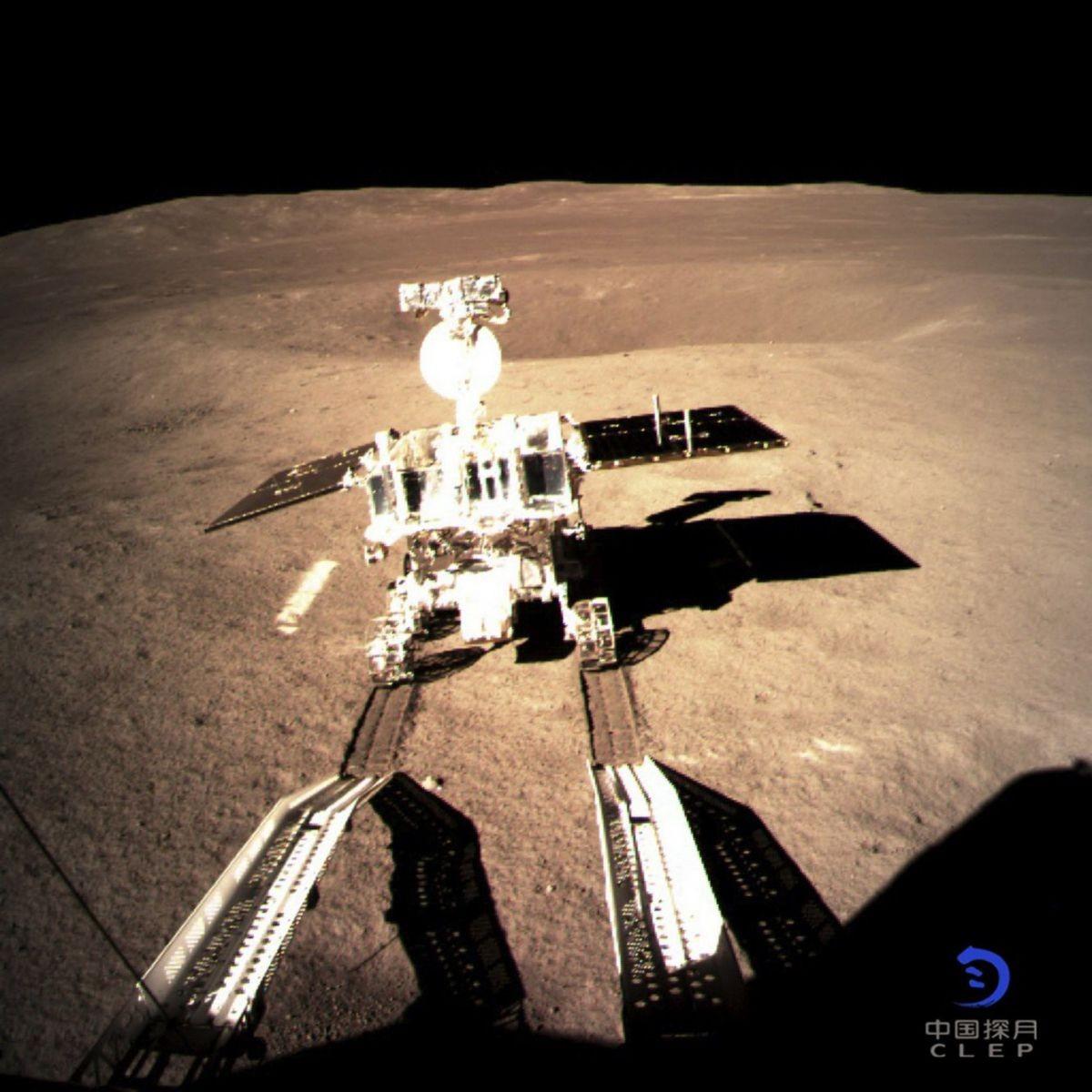 Detalhe do jipe espacial que desembarcou no lado oculto da lua (Foto: Divulgação)