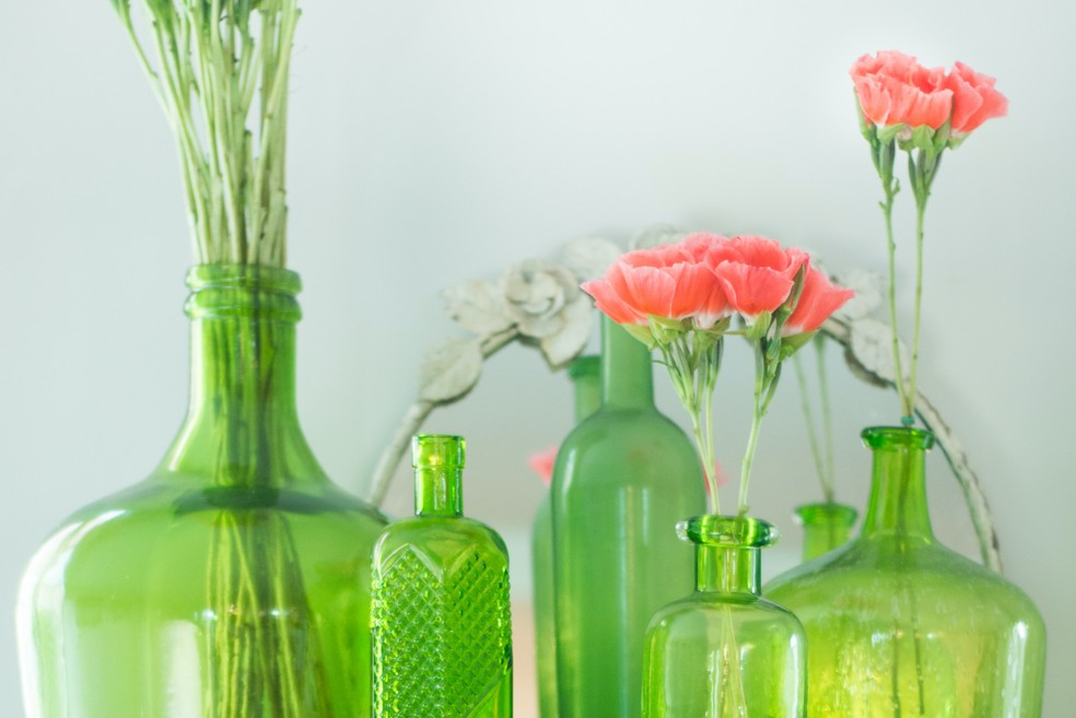As garrafas verdes são as ideias para começar — Foto: Reprodução/Unsplash