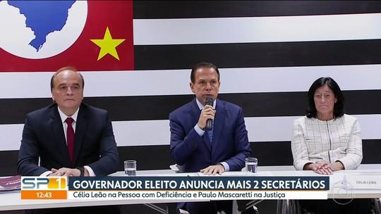 Doria anuncia ex-presidente do TJ para a pasta da Justiça e deputada tucana para a Secretaria das Pessoas com Deficiência
