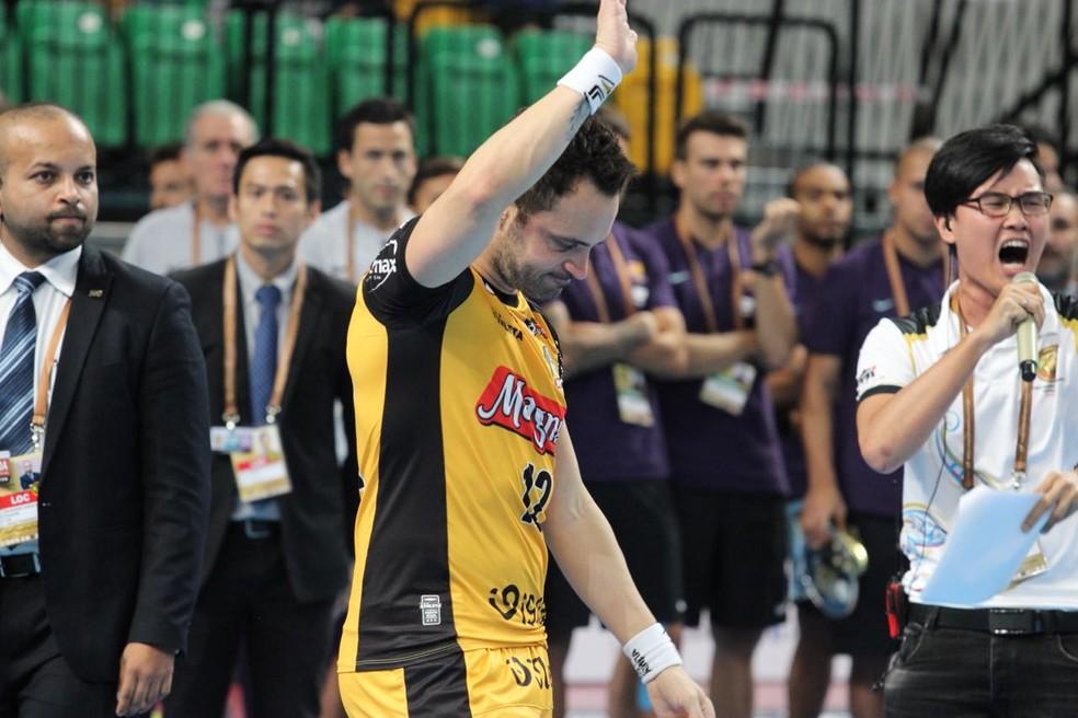 Falcão admite proximidade do adeus ao futsal  (Foto: Guilherme Mansueto/Magnus Futsal)