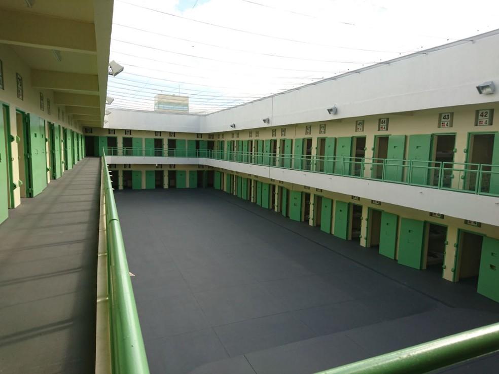 Penitenciária feminina de Votorantim foi inaugurada em março e tem capacidade para 848 detentas (Foto: Mayara Corrêa/G1)