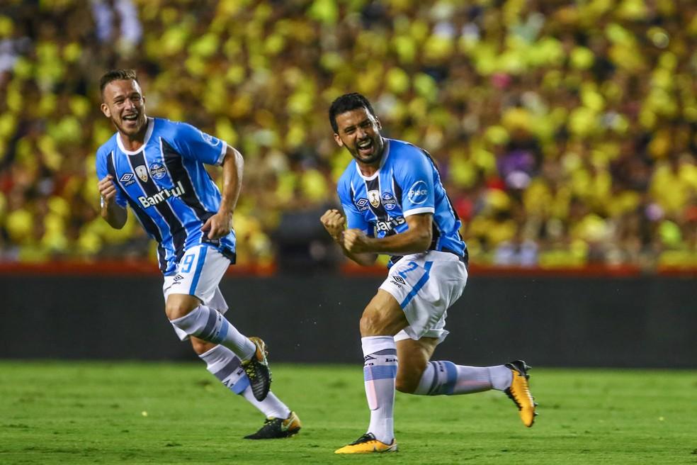 Edilson foi campeão da Libertadores pelo Grêmio  — Foto: Lucas Uebel/Grêmio/Divulgação