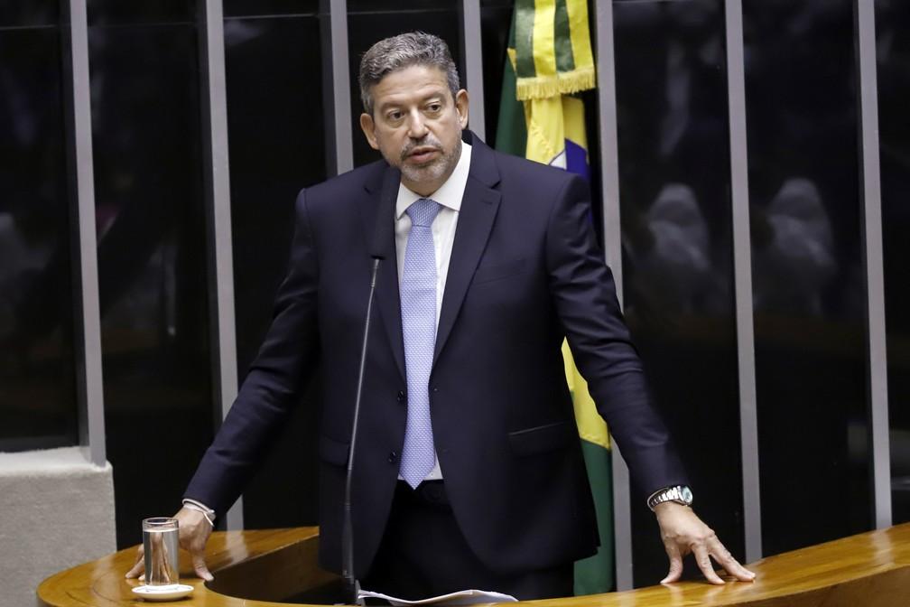 Arthur Lira durante discurso na Câmara dos Deputados, nesta segunda-feira (1) — Foto: Cleia Viana/Câmara dos Deputados