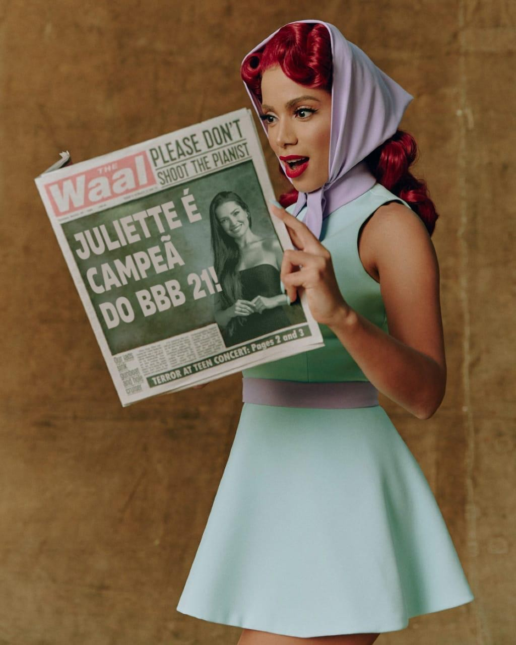 Anitta fazendo campanha pra Juliette vencer BBB21 (Foto: Instagram/Reprodução)
