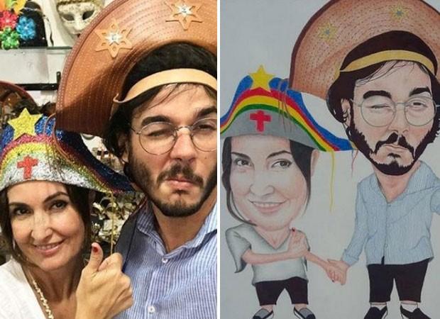 Fátima Bernardes recebe prêmio nos EUA e namorado se derrete: 'orgulho'