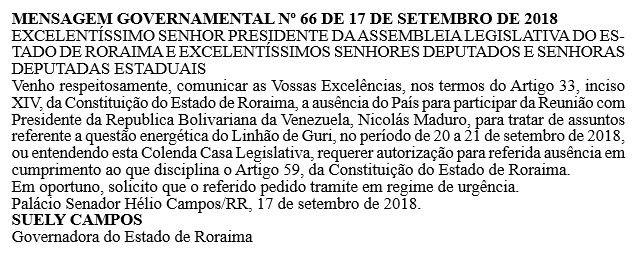 Governadora de Roraima viaja à Venezuela para se reunir com Maduro sobre questão energética