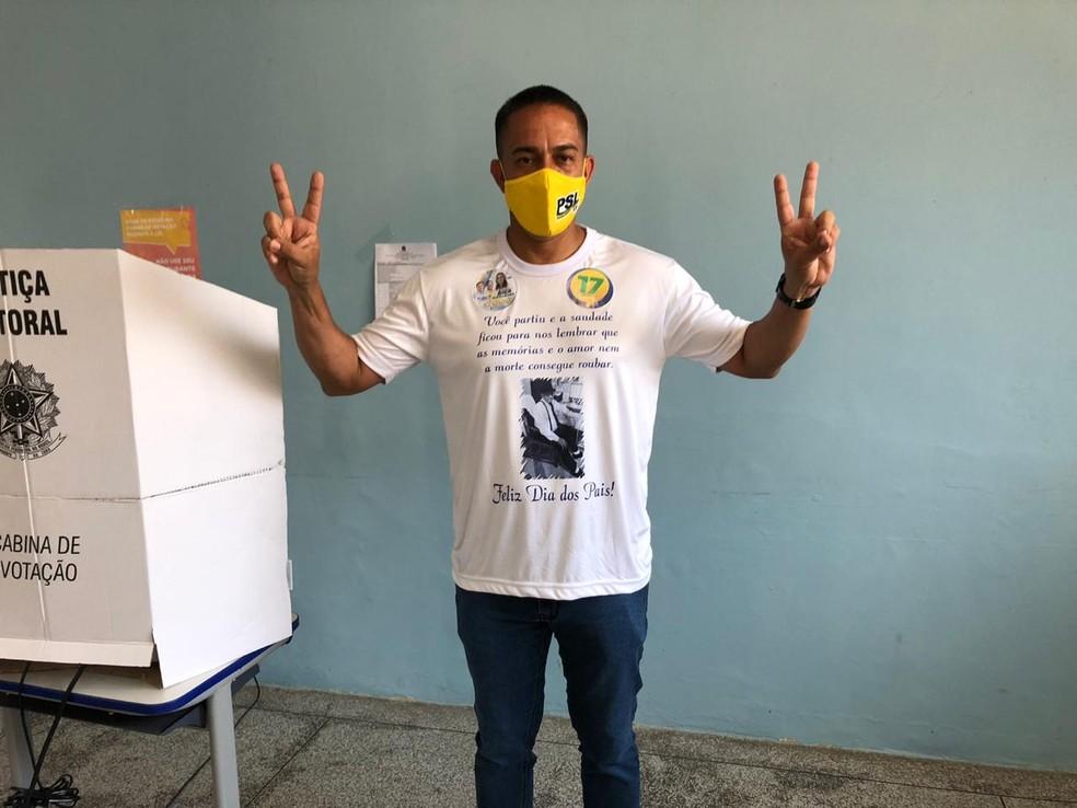 Eleição 2020: Candidato Eyder Brasil vota em Porto Velho — Foto: Marison Dourado/Rede Amazônica