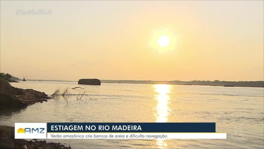 Período de estiagem afeta exportação pelo rio Madeira em Rondônia