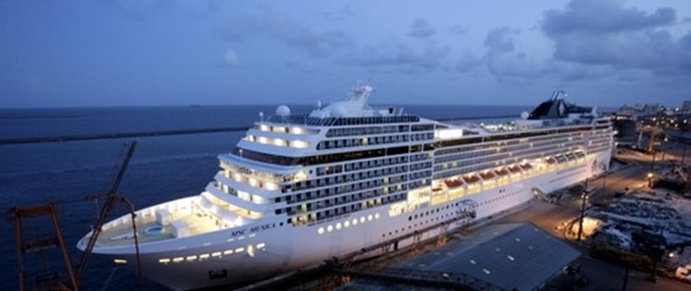 Temporada de cruzeiros marítmos tem início no domingo (22), no Porto do Recife (Foto: Porto do Recife/Divulgação)
