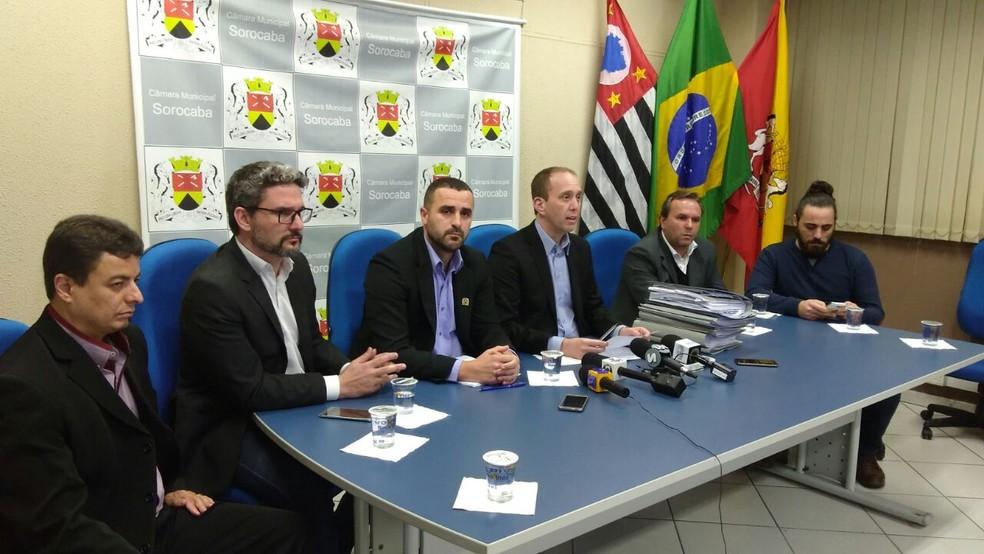 Vereadores de Sorocaba apresentaram relatório da Comissão Processante — Foto: Wilson Jr./TV TEM