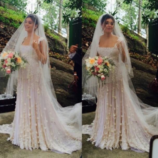 Sophie Charlotte chegando ao casamento (Foto: Reprodução Instagram)