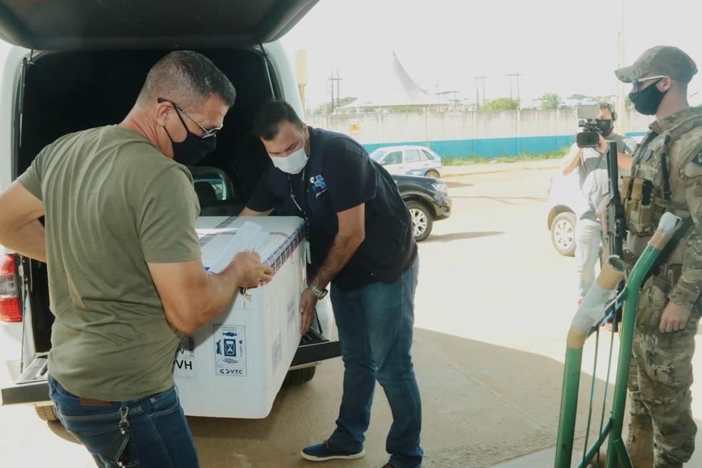 Rondônia recebe mais um lote de vacinas contra a Covid-19  — Foto: Divulgação/Governo de Rondônia