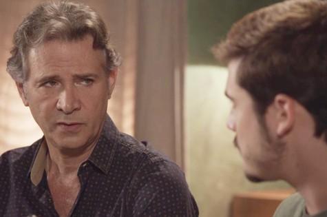 Nelson Freitas é Livaldo em 'O tempo não para'  (Foto: Reprodução)