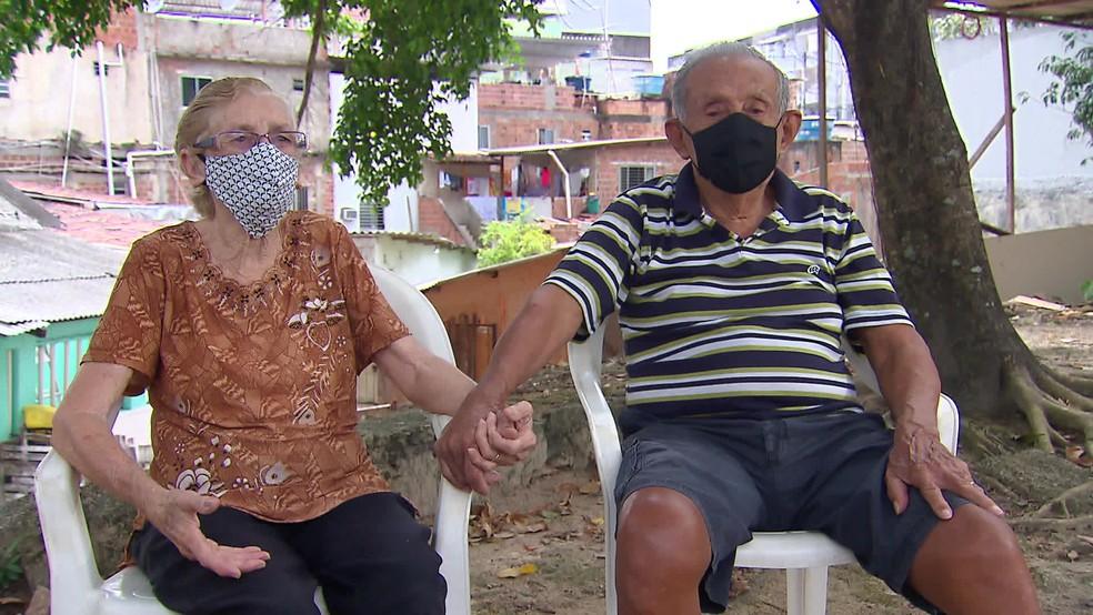 Carmem e Cláudio deixaram de fazer exercícios devido à pandemia — Foto: Reprodução/TV Globo